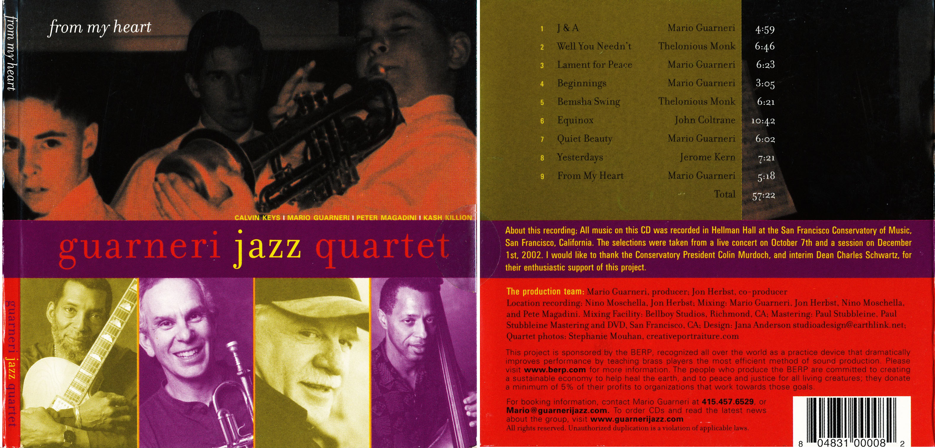 Guarneri Jazz Quartet | From My Heart