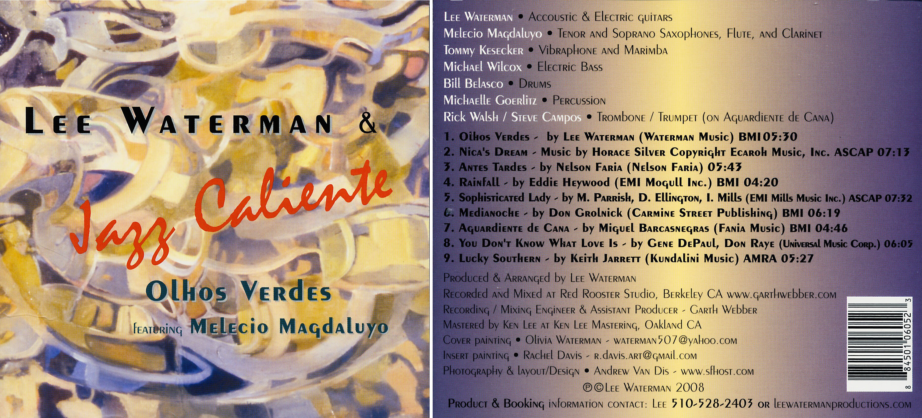 Lee Waterman's Jazz Caliente | Olhos Verdes